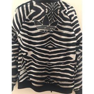 Zebra Print Adidas Bomber Jacket. NWT NWT